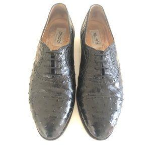Rare Vintage Mauri Genuine Ostrich Dress Shoes